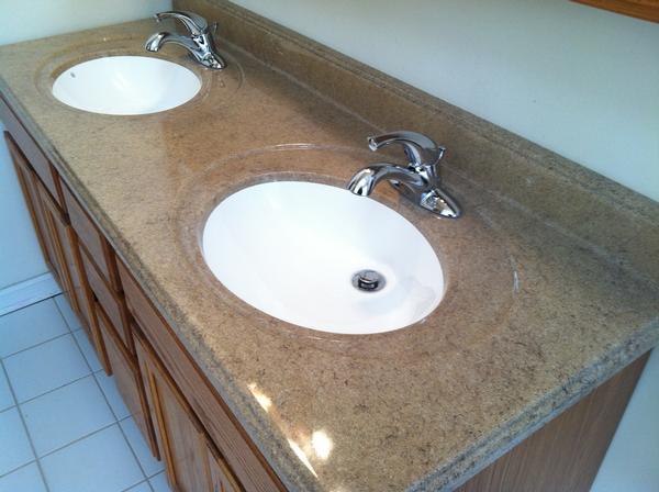 New Vanity Top Install John Schoeffling Plumbing